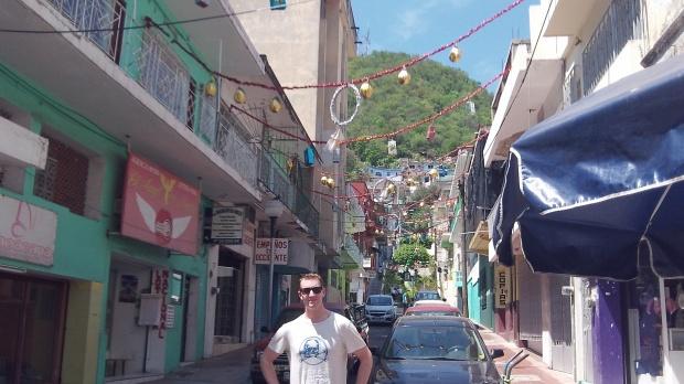 Street in Manzanillo, Mexico