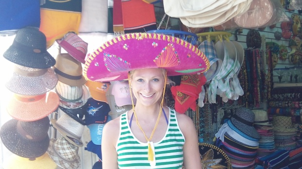 Hot pink sombrero